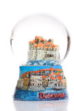 Dubrovnik. City of Dubrovnik inside of a glass sphere Royalty Free Stock Image
