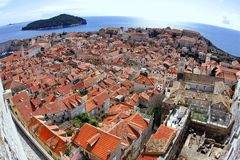 Dubrovnik. Croatia. Wide-angle lens Stock Photos