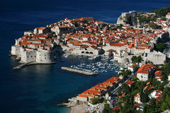 Dubrovnik. Panorama of Dubrovnik, beautiful old town in Croatia, Europe