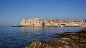 Dubrovnik. Marina, viewed from the beach Royalty Free Stock Image