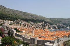 Dubrovnik aéreo Imagen de archivo libre de regalías