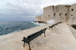 Dubrovnik. Adriatic. Fortress at the entrance of the old harbor of the Croatian city of Dubrovnik Stock Photo