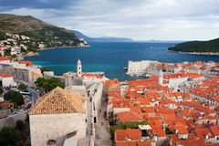 Dubrovnik on the Adriatic Sea in Croatia Stock Photo