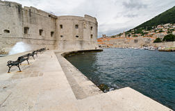 Dubrovnik. Adriatic Sea. Old Croatian city harbor of Dubrovnik Stock Image