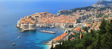 Dubrovnik aerial Royalty Free Stock Photo