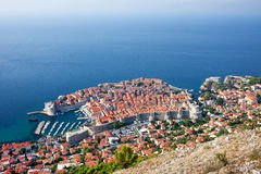Dubrovnik Aerial View Stock Image