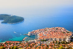 Dubrovnik Aerial View Stock Photo