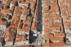 Dubrovnik aerial view Stock Photography