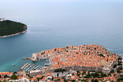Dubrovnik 5. Aerial view of the fortress of Dubrovnik on the Adriatic Sea, Croatia Stock Images