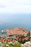 Dubrovnik 3. Aerial view of the popular seaside tourist destination of Dubrovnik, the filming location of a popular TV series, in Croatia Stock Images