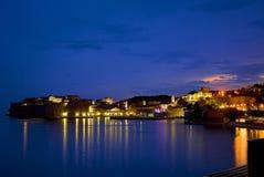 Dubrovnik alla notte Fotografia Stock Libera da Diritti