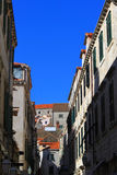 Dubrovnik Alley - Croatia. A narrow  alley in Dubrovnik, a Croatian city on the Adriatic Sea, in the region of Dalmatia Royalty Free Stock Image