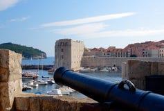Dubrovnik - alter Hafen Stockfoto