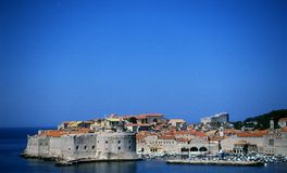Dubrovnik - ancient beauty. Old croatian city of Dubrovnik at the Adriatic sea Stock Photography