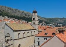 Dubrovnik-Ansicht von der Stadtmauer Stockbild