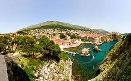 Dubrovnik-Antenne lizenzfreies stockbild