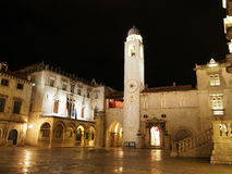 Dubrovnik, august 2013, Croatia, Luza square Royalty Free Stock Photos