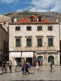 Dubrovnik, august 2013, Croatia, Stradun Royalty Free Stock Photography