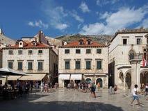 Dubrovnik, august 2013, Croatia, Stradun Stock Photography