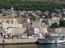 Dubrovnik, august 2013, old town and franciscan church Royalty Free Stock Images