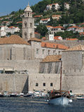 Dubrovnik, august 2013, old town and franciscan church Stock Images