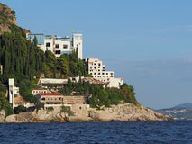 Dubrovnik, august 2013, the ruins of the Hotel Belvedere Stock Photography