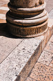 Dubrovnik. Base of column. Croatia. Dubrovnik. Column base of a medieval building stock photos
