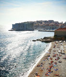 Dubrovnik beach. In summer, near dusk royalty free stock photography