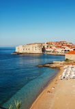 Dubrovnik beach at sunrise Stock Image