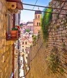 Dubrovnik brant smal gatasikt arkivfoto