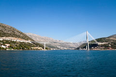 Dubrovnik Bridge. The Franjo Tudjman Bridge in Dubrovnik, Croatia Royalty Free Stock Photo