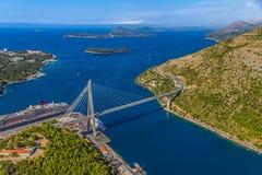 Dubrovnik bridge Stock Photography