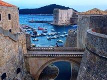 Dubrovnik bridge royalty free stock photography