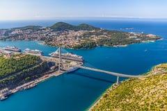 Dubrovnik bro Arkivfoton