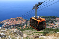 Dubrovnik cable car. The cable car from Dubrovnik old town up to Srd Hill, Croatia Royalty Free Stock Images