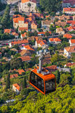 Dubrovnik cable car Stock Photo