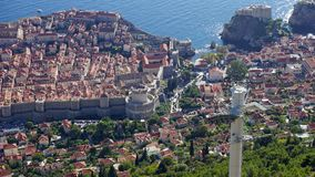 amazing view from the dubrovnik cable car Stock Photo