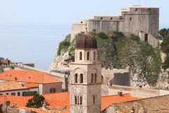 Dubrovnik castle and tower Stock Image