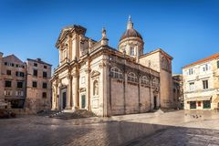 Dubrovnik Cathedral of the Assumption of the Virgin Mary stock image
