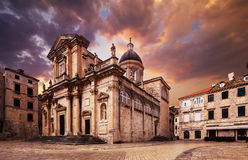 The Dubrovnik Cathedral . Croatia. Royalty Free Stock Images