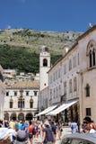 Dubrovnik, Chorwacja, Czerwiec 2015 Ludzie na głównym placu stary miasteczko zdjęcia royalty free