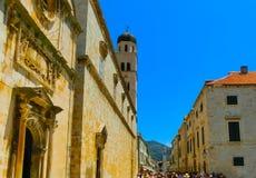 Dubrovnik Chorwacja, Czerwiec, - 07, 2015: Widok na starym miasteczku i ulicie Zdjęcia Royalty Free