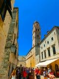 Dubrovnik Chorwacja, Czerwiec, - 07, 2015: Widok na starym miasteczku i ulicie Obrazy Royalty Free