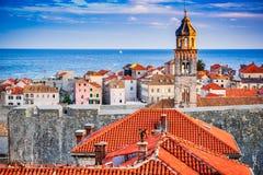 Dubrovnik Chorwacja, Dalmatia, - wybrzeże, zdjęcia stock