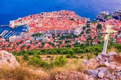 Dubrovnik Chorwacja, Dalmatia, - wybrzeże, obrazy stock