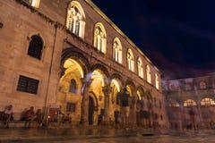 Dubrovnik Chorwacja rektora pałac Podczas Mrocznego zmierzchu lata obraz stock