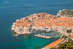 Dubrovnik, Chorwacja widok od odległości Fotografia Stock