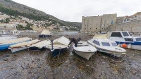 Dubrovnik Chorwacja, Wrzesień, - 12,2017: Przegląda miasto sławny Europejski podróży miejsce przeznaczenia Crotia którym z w jest zdjęcia royalty free