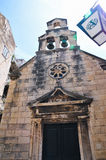 Dubrovnik church. Croatia. Dubrovnik. Medieval church with bell tower royalty free stock image