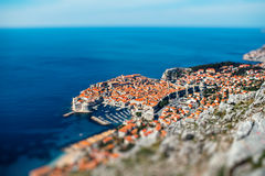 Dubrovnik city top view Royalty Free Stock Image